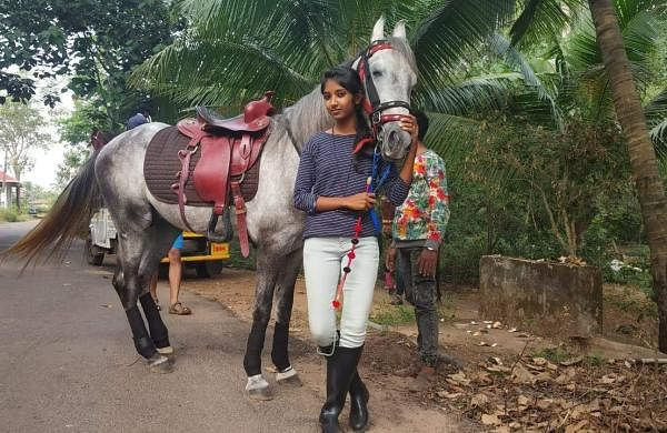 Krishna Kerala Girl on horse