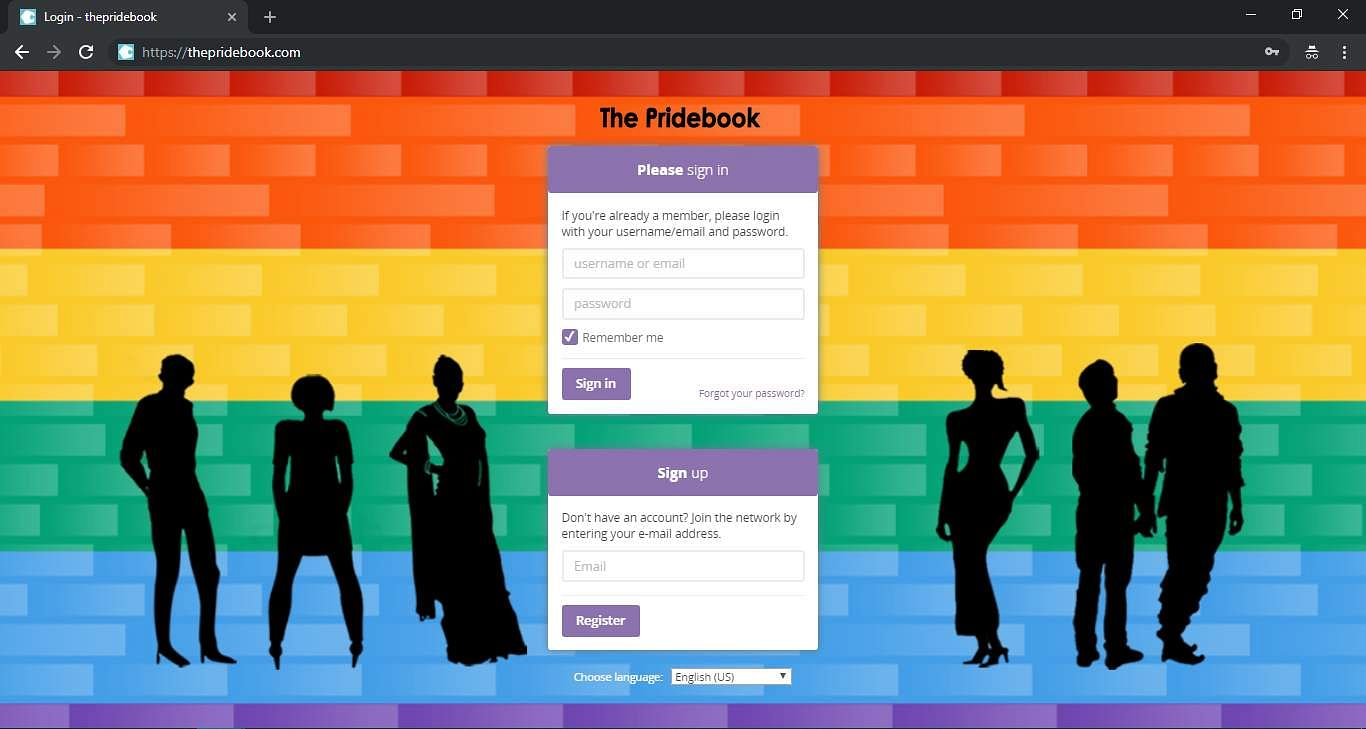 The Pridebook website