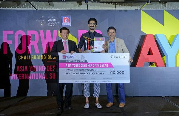 Tanay Narendra Botharafrom Vivekanand Institute of Technology'sPadmabhushan Vasantdada Patil College of Architecture, Pune clinched the covetedAsia Young Designer of the Year title (Pic: Tanay)