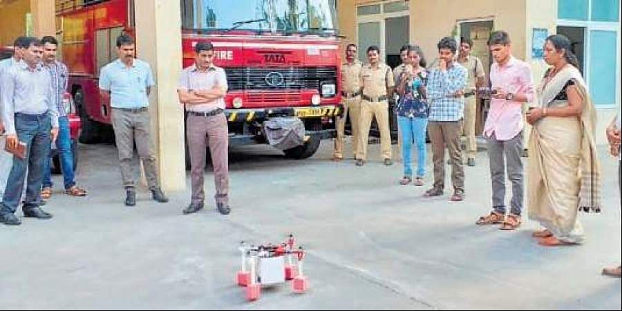 Drone helps at fire accident