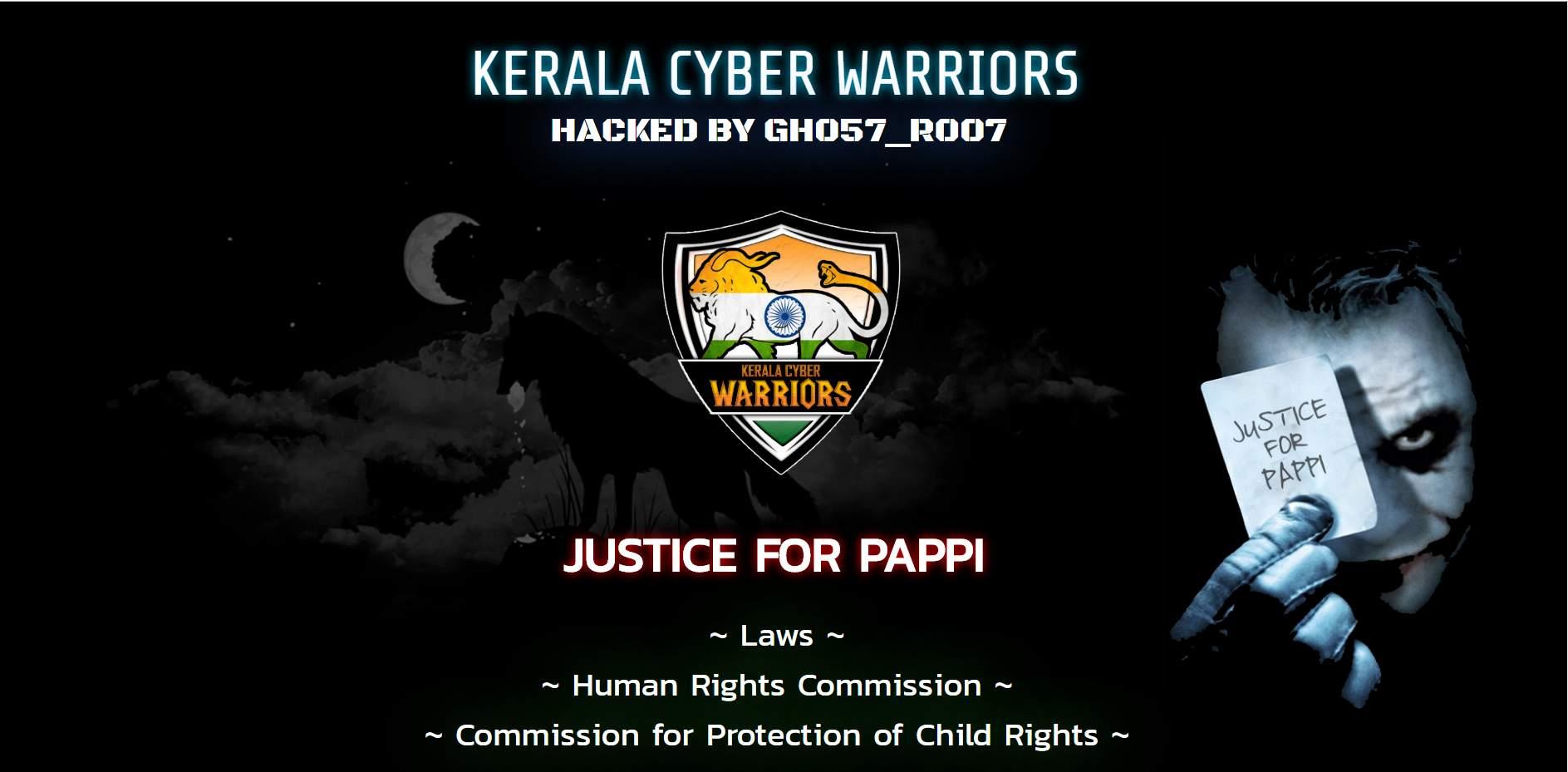 Justice for Thodupuzha case, Kerala Govt websites hacked