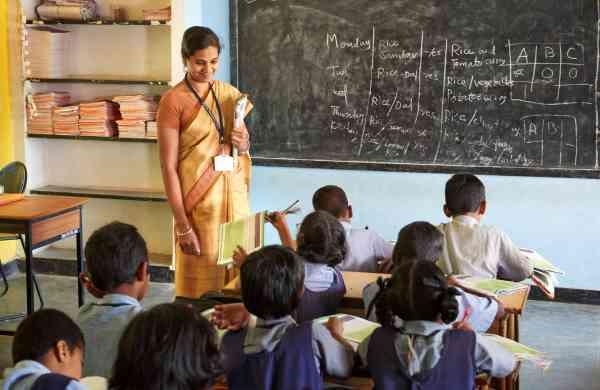 school kids at classroom