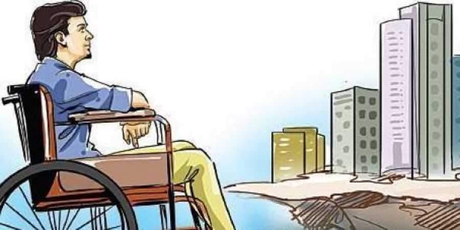 man in wheelchair cartoon