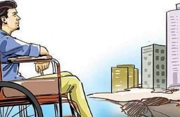 man in wheelchair cartoon