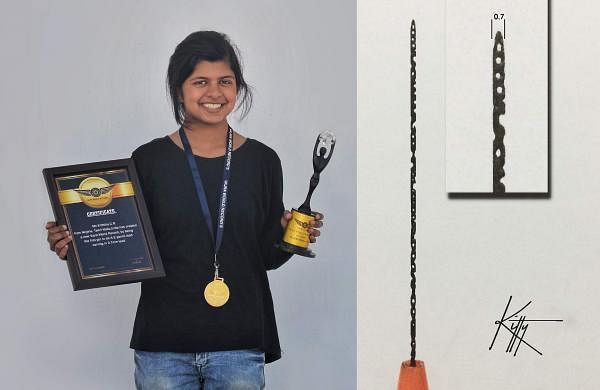 Krithika Ramesh with the Vajra World Records