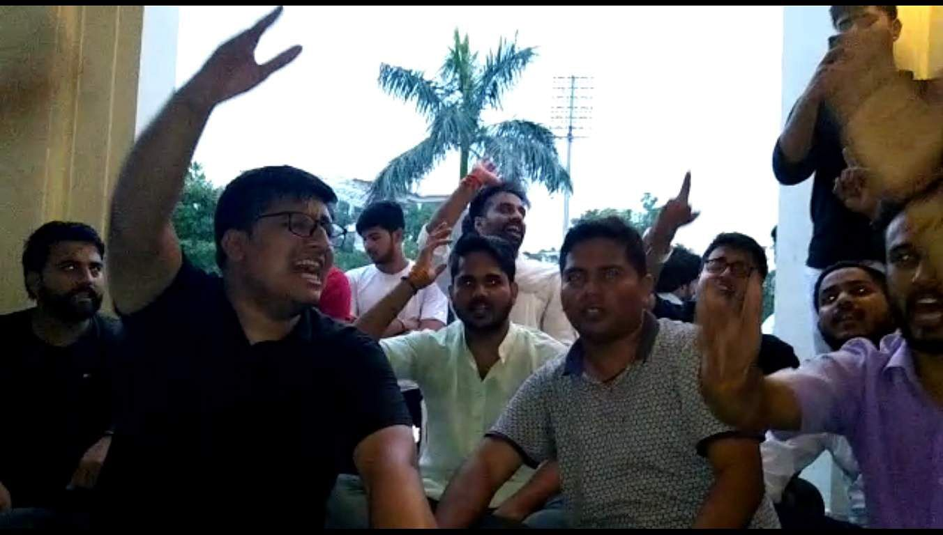 ABVP members protest