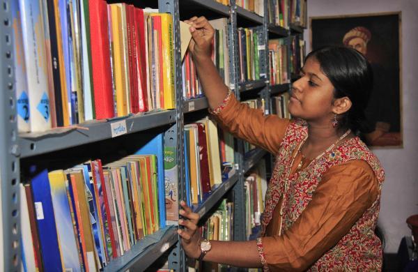 Yashoda inside her library (pics: Arun Angela)