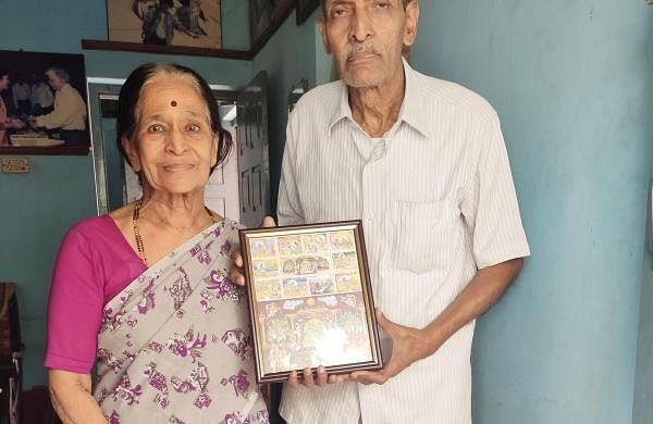 Professor R G Sangoram with his wife Rajamani C E at their residence in Bengaluru