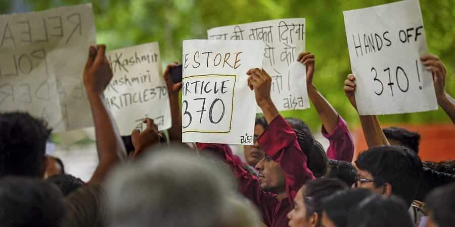 article 370 protests