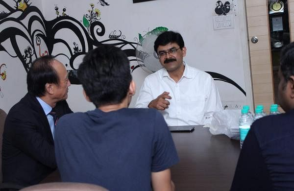 Sreedhar V T, Founder interacting