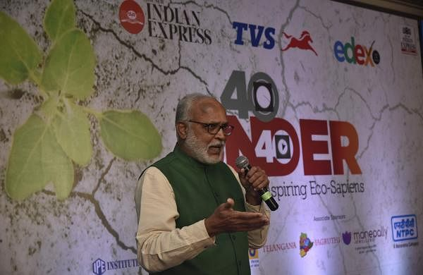 Manikonda Vedakumar speaking at Edex's 40 Under 40 eco-conclave