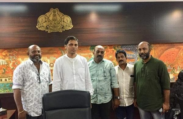 Jiju Jacob with the Kozhikode Collector