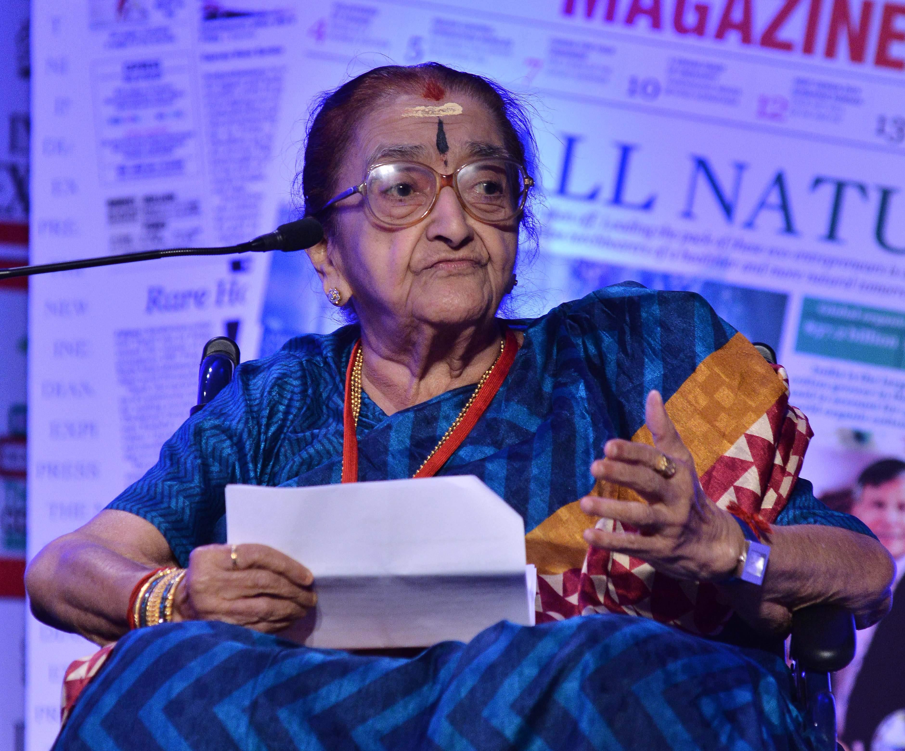 Mrs YGP, Rajalakshmi Parthasarathy passes away
