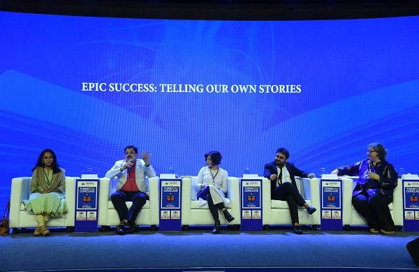 Author Anand Neelakantan spoke during the session, Epic Success: Telling Our Own Stories