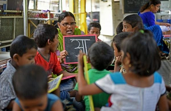 There are seven buses under the School on Wheels initiative in Mumbai| Pic: DSS