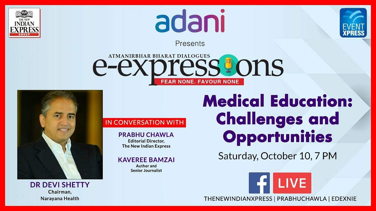 Dr Devi Shetty at eExpressions by The New Indian Express (Pic: Express)