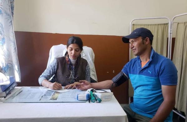 Shilpa at her PHC (Pic: Dr Kumar)