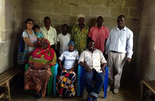 Somy began teaching the children under a mango tree in the centre of the village