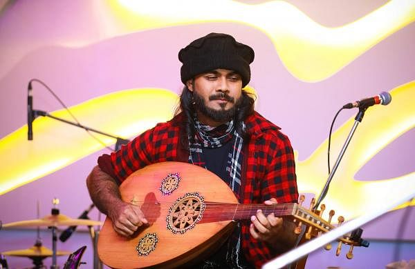 Bonny Abraham playing Oud
