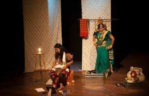 A scene from Akashayambara play (Pic: India Foundation for The Arts)