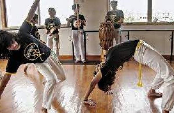 Children learning Capoeira at Centre For Capoeira India