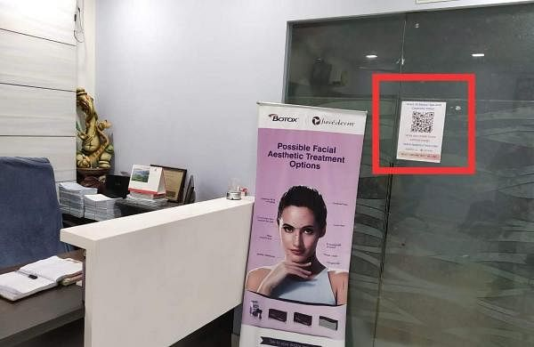 Oxyfind allows doctors and patients to connect using QR codes placed at convenient locations