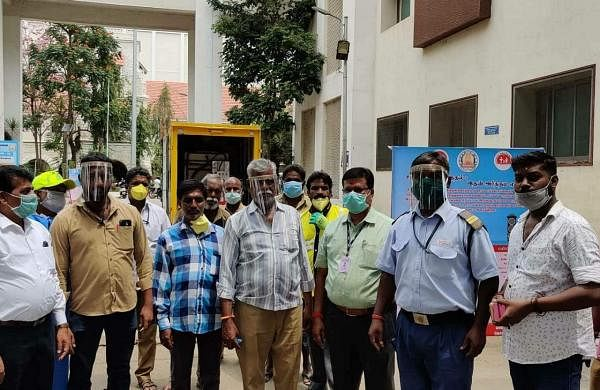 The face shields given to frontline workers at CMCH (Pic: Vigneshwaran)