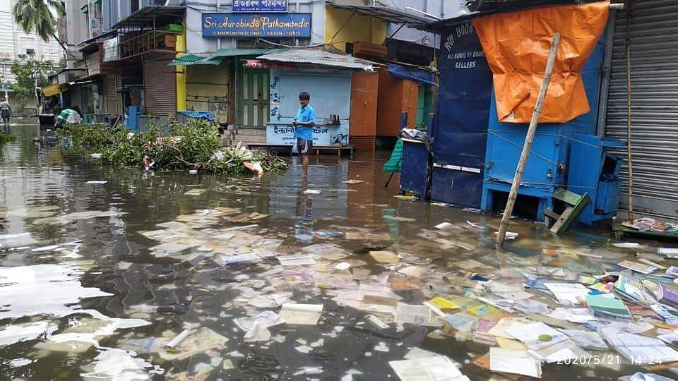 Scenes from College Street after Amphan didn't even spare books from its ferocity (Pic: Kanrar Suman | Facebook)