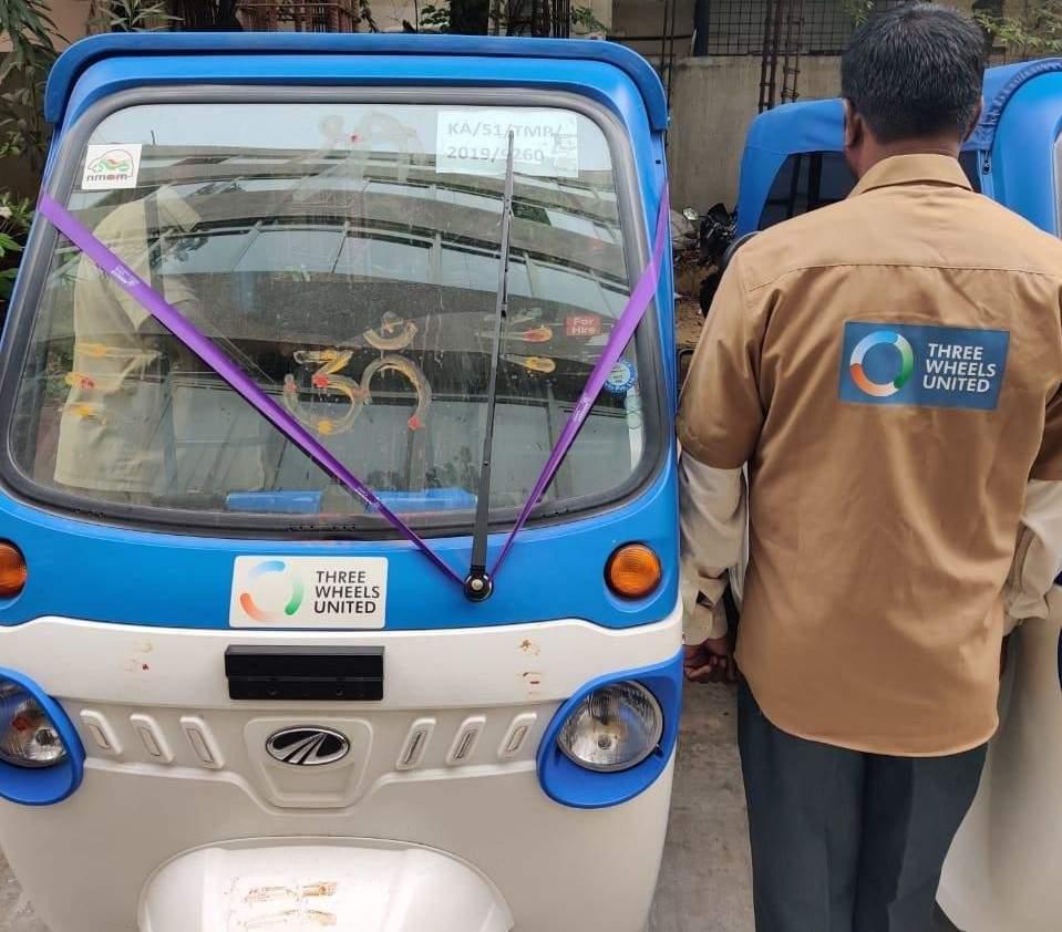An electric auto financed by Three Wheels United