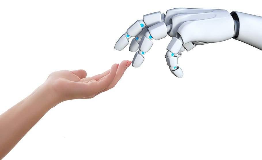 hand-human-robot-touch