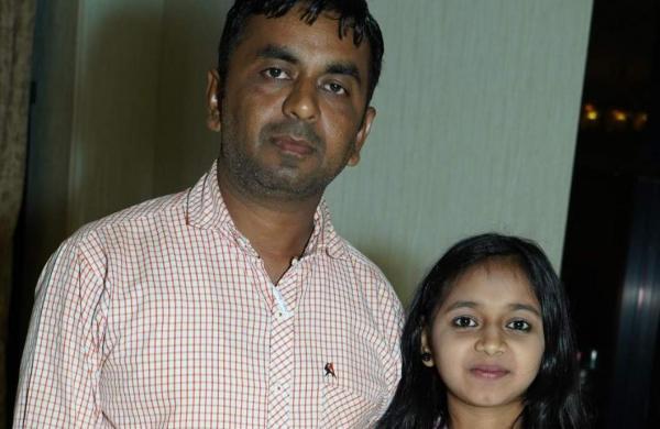 Rajveer and his daughter Akanksha