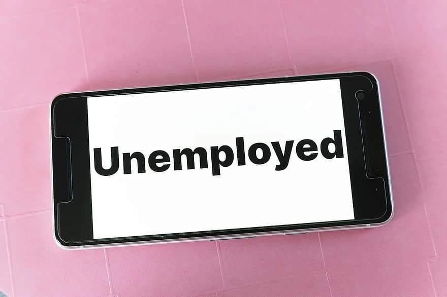 mockup-screen-smartphone-website-blog-word-unemployment-unemployed-person-money