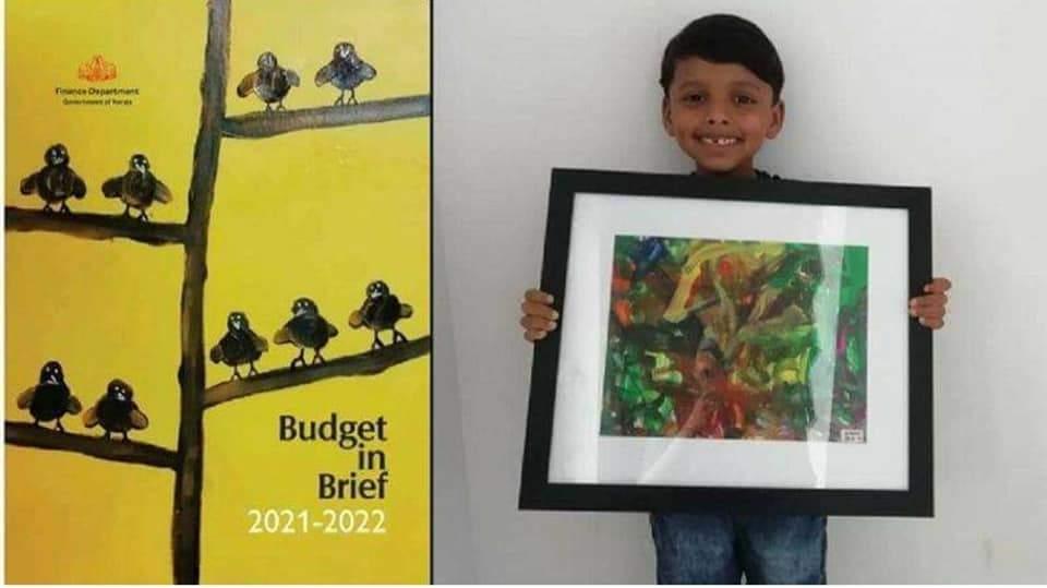 Akku with his paintings