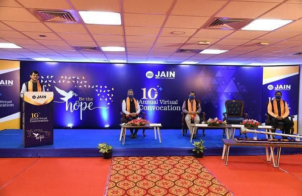 Jain_(Deemed-to-be_University)_10th_Annual_Convocation,_(L-R)_Vice_Chancellor,_Dr