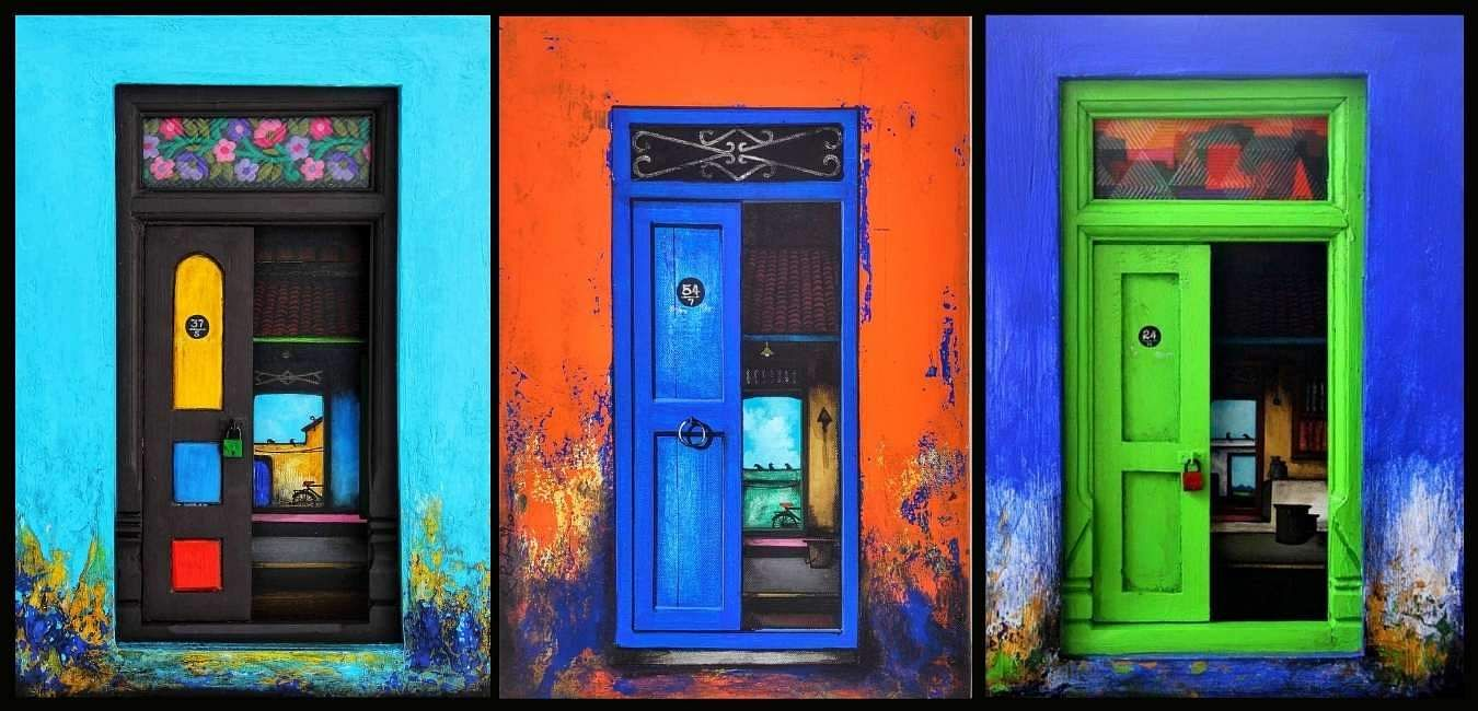 Why this artist from Kumbakonam is giving a colourful and artistic spin to  drab doors- Edexlive