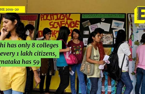 Delhi has only 8 colleges for every 1 lakh citizens, K'taka has 59