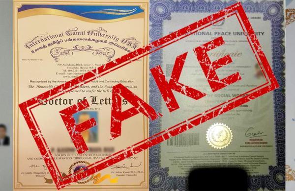 Fake Degree Certificates