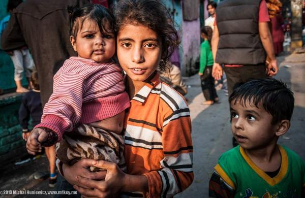 Children in Delhi